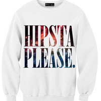 Galaxy Hipsta Please Sweatshirt | Yotta Kilo