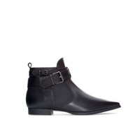 LEATHER POINTED ANKLE BOOT - TRF - New this week | ZARA United States