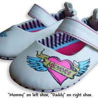 Flying Heart White Mary Janes Shoes (last one!)