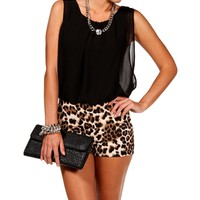 BlackLeopard Romper