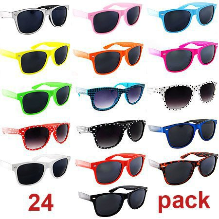 Lot of 24 Nerd Glasses Buddy Holly Wayfarer Dark Lenses