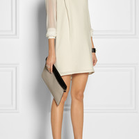 Thakoon Addition | Silk chiffon-sleeved cotton dress | NET-A-PORTER.COM