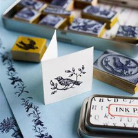 Birds and Nests Rubber Stamps ? Cox & Cox, the difference between house and home.