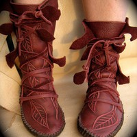 Elf Wrap Moccasins by TreadLightGear on Etsy