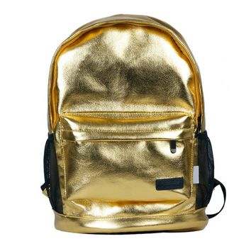 Personalized Unisex Metal Tone Backpack Laptop Bag
