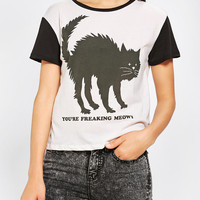 Urban Outfitters - Corner Shop You're Freaking Meowt Tee