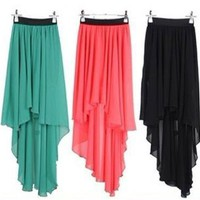 Fanewant — FASHION COLORFUL SHORT AND LONG SKIRT