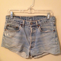 501 High Waisted Jean Shorts