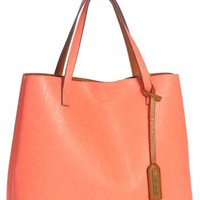 Junior Women's Street Level Reversible Faux Leather Tote & Wristlet