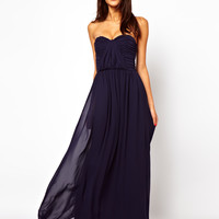 ASOS | ASOS Bandeau Ruched Maxi Dress at ASOS