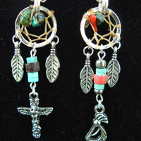 CHOOSE ONE totem dreamcatcher kokopelli dreamcatcher necklaces in tribal  native indie gypsy hippie morrocan boho and hipster style