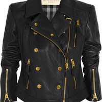 Burberry Brit | Textured-leather biker jacket