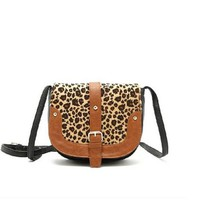 Fashion Ladies Cute Leopard Print Satchel Handbag Shoulder Bag for Women