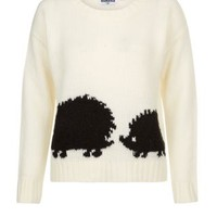 New Look Mobile | Teens Cream Hedgehog Print Jumper