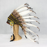 Great Plains Indian Chief Feather Headdress