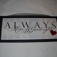 Always Kiss Me Goodnight Bedroom Wooden Wall Art Sign with Heart:Amazon:Home & Kitchen