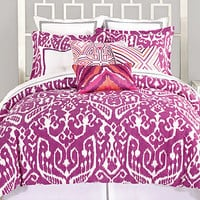 Trina Turk Bedding, Ikat Purple Comforter and Duvet Cover Sets - Apartment Bedding - Bed & Bath - Macy's