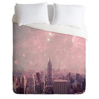 DENY Designs Home Accessories | Bianca Green Stardust Covering New York Duvet Cover
