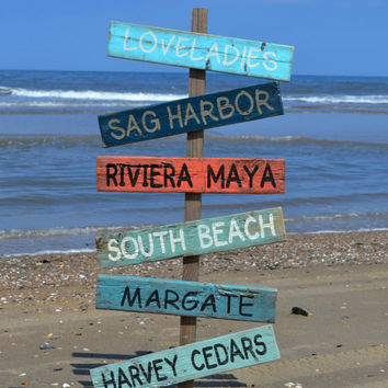 Beach Decor Beach Sign Custom Colors Wedding Signs