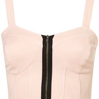 Denim Zip Bralet