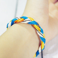 Boho Braided Braclet by Chain Yarn and Neon Rope by Lynnlen