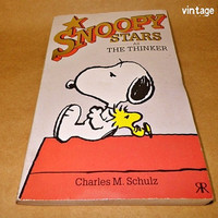 Snoopy Stars as The Thinker by Charles M. Schulz comic book paperback (1989)
