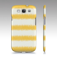Samsung Galaxy s3 case, Galaxy s4 case, ikat, striped, yellow striped case, ikat case, ikat pattern, iphone5, iphone5s , art for your phone