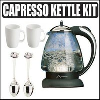 Capresso H2O Classic Glass Water Kettle With Tea Outfit
