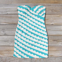 Strawberry Fields Dress in Teal