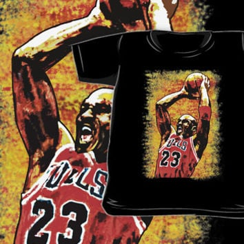 Michael Jordan Oil painting All size Kids from Redbubble