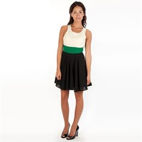 Double Zero Juniors Color Block Dress with Cutout Back at Von Maur