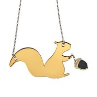 Squirrel With Acorn Necklace,Plexiglass Jewelry,Lasercut Acrylic,Gifts Under 25 | Luulla