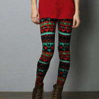 Red and Green Leggings - &amp;#36;37.00