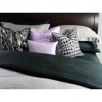 Plush Living Caiman Sheet Set in Jet Set Black - 322823 - Sheets - Bed & Bath