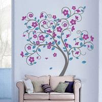 Swirly Tree Vinyl Wall Sticker | Vinyl Impression