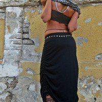 Special adjustable maxi skirt, Convertible skirt
