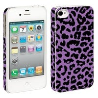 Purple Leopard iPhone 4/4S Hard Shell Case