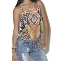 Ikat Tribal Crop Cami | Shop Fall Festivals at Wet Seal