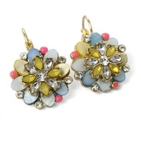 Blooming Flower Beads Earrings Multi
