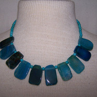 Blue Crackled Agate &amp; Turquoise Summer Festival