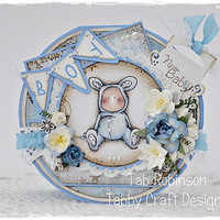 OOAK Magnolia Round Baby Boy Vintage Style by TabbyCraftDesigns