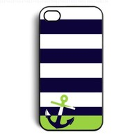 Navy Sailor Anchor Snap on Case Cover for Apple Iphone 4 Iphone 4s Cellphone Case:Amazon:Cell Phones & Accessories