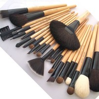 BOSTON WORLD Black 24 PCS Professional Makeup Brush Set Include Free Pouch:Amazon:Everything Else