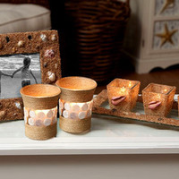 Seashell Frame & Candle Holder Set
