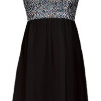 The Strapless Black Sequin Dress