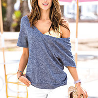 French Terry V-neck Top - Victoria's Secret