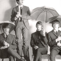 The Beatles Umbrellas Music Poster Print - 24x36