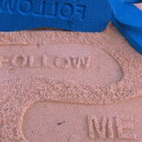 Blue Flip Flops - Follow Me Sand Imprint Flip | UsTrendy