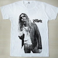 Horror Metal Rob Zombie Mr. Zombie Rob Straker The Lords of Salem Shock Rock White Unisex T Shirt S to XXL