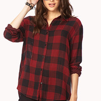 Everyday Plaid Shirt | FOREVER 21 - 2000128166